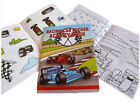 RACING CARS 36 PAGE A6 ACTIVITY COLOUR STICKER BOOK CHILDREN PARTY BAG FAVOURS