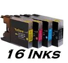 16 Compatible LC1240 LC1280 XL Ink Cartridges for Brother Printers black colour