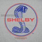 FORD SHELBY COBRA SIMPLE LOGO TEE SHIRT CAR AUTO CARROLL GRAY