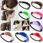 Faux Wig Elastic Rope Hair Cuff Peony Band Wrap Peonytail Holder Ring Scrunchie