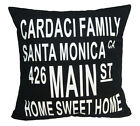 "Ehs-CARDACI Main St Print Text Cotton Canvas Cushion Cover/Pillow Case 17""-19"""
