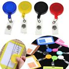 5pcs Reel Recoil ID Badge Card Lanyard Name Tag Key Holder With Belt Clip