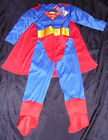 Superman padded chest fancy dress up BNWT 7-8yrs Boys Muscle Book Week Costume