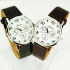 Free Shipping New Good Men Man-made leather Quartz Watch ,B2