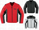 Icon Device Leather Motorcycle Jacket S,M,L,XL,2XL,3XL,4XL New