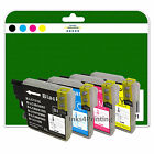 1 Full Set of Compatible Printer Ink Cartridges for the Brother LC985 Range