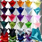 Mens Pocket Square Wedding Formal Plain Satin Handkerchief Hanky