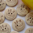 Natural Color Bottle 2 Hole 20mm Wood Buttons Sewing Scrapbooking Craft C017