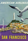 TX172 Vintage San Francisco American Airline Airways Travel Poster Re-print A3
