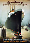 TX197 Vintage Hamburg America Line Liner Shipping Travel Poster Re-Print A2/A3