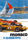 AV96 Vintage 1970 28th Monaco Grand Prix Motor Racing Poster Re-print A3