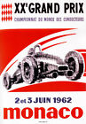 AV90 Vintage 1962 Monaco Grand Prix Motor Racing Poster Art Re-Print A1/A2/A3