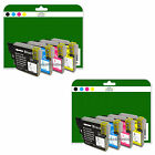 2 Full Sets of Compatible Printer Ink Cartridges for the Brother LC985 Range