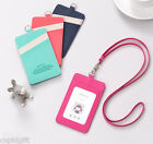 Ardium Strap Card Case Pocket Single Holder Business ID Traffic Key Holder Chain