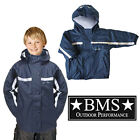 Kids Boys Girl Rainsuit Jacket Waterproof Navy Blue Colour Children Coat 1-7 yrs