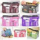 Large Dual Organizer Mp3 Phone Cosmetic Book Storage Nylon Bag Handbag Purse