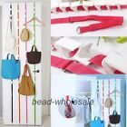 Adjustable Over Door Straps Hanger Hat Bag Clothes Coat Rack Organizer 8 Hooks