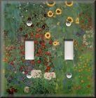 Light Switch Plate Cover - Klimt - Sunflower Garden - Floral Home Decor