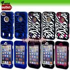 Zebra Style Hard Protection Soft Rubber Matte Case Cover for iPhone 5 5G IP5 6th