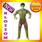 C695 Mens Incredible HULK Avengers EVA Muscle Chest + Mask Hero Adult Costume