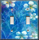 Light Switch Plate Cover - Dream Flowers - Blue - Floral Home Decor