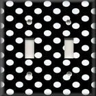 Light Switch Plate Cover - Black And White - Polka Dots Design - Home Decor