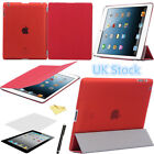 Ultra Thin Magnetic Smart Case Cover +Back Case For Apple iPad 4 3 2 Sleep Wake