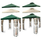 NEW 10' x 10' REPLACEMENT GAZEBO SINGLE OR TWO TIERED CANOPY TOP COVER 10x10