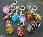 Cracked Quartz Crystal Dangling Ball Charms, Various Colurs Reiki Blessed in Bag