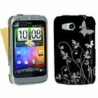 Accessories For The HTC Wildfire S Best Hard Floral Butterfly Case Cover Skin UK