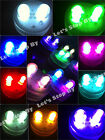 10 SUPERBRIGHT Premium DOUBLE LED Submersible Feather Party Wedding Tea Light