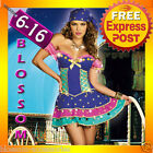 J56 Ladies Mystical Gypsy Circus Fortune Teller Fancy Dress Halloween Costume