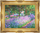 Claude Monet The Artist's Garden at Giverny Repro Framed Art - Medium to X Large