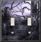 Light Switch Plate Cover - Haunted Forest Trees - Fantasy Home Decor