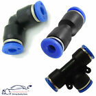 Nylon Pneumatic hose tube inline push fit connector air line airline elbow 90 t