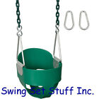 SWING SEAT FULL BUCKET W/ 8 1/2' COATED CHAIN SWING SET BABY PARK FUN KID 0052