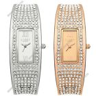 Lipsy London Crystal Encrusted Rose Gold/Steel Ladies Bangle Watches