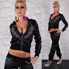 HOT & SEXY SATIN TRACKSUIT EMBROIDERED  BY REDIAL Size 8, 10, 12