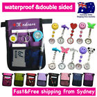 "NURSES POUCH+CHROME WATCH+KEYRING ""extra pocket"" QUICK PICK BAG with waist strap"