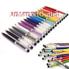 2in1 Ball Point Write Pen+Crystal Diamond Screen Capacitive Touch Pen Tablet