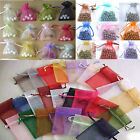Bretty 50pcs Candy Colors Jewellery Gift Pouch Organza Bags Wedding Favor 7x9cm