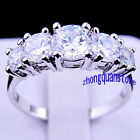 Jewelry Fashion Rings Size 7-9 White Cut Women's White Gold Filled Wedding Gift