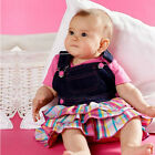 Set of 2PCS T-shirt Tops+ Denim Cake Skirt Baby Girl Outfits 0-24M
