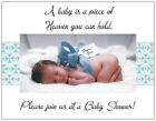 20 BABY BOY Blue Bow Shower INVITATIONS  Postcards or Flat Cards Env & SEALS