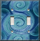 Light Switch Plate Cover - Swirling Colors - Blue Tones - Home Decor