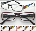 G(R360C)2Pairs Plastic Colour Patterned Arm Reading Glasses/5Colours/SpringHinge