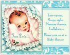 BABY BOY Vintage Repro Shower INVITATIONS  Postcards or Flat Cards Env