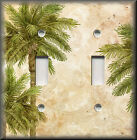 decorate light switch covers - Metal Light Switch Plate Cover - Tropical Palm Trees - Coastal Home Decor Beach
