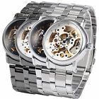 Mens Man Hollow Skeleton 4 Colors Automatic Mechanical Wrist Watch Cool