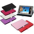 "Red Pink Blue Wallet Folio Leather Case Stand Cover for 10"" Tablet"